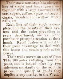 Advertisement for Eavey & Co. in Xenia Daily Gazette on September 29, 1883 (part 2)