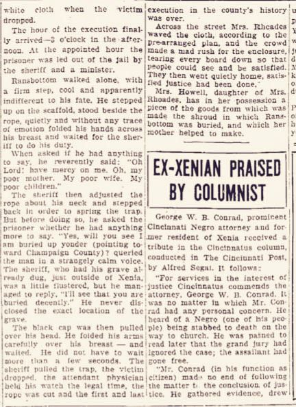 Article from Xenia Daily Gazette dated April 9, 1936