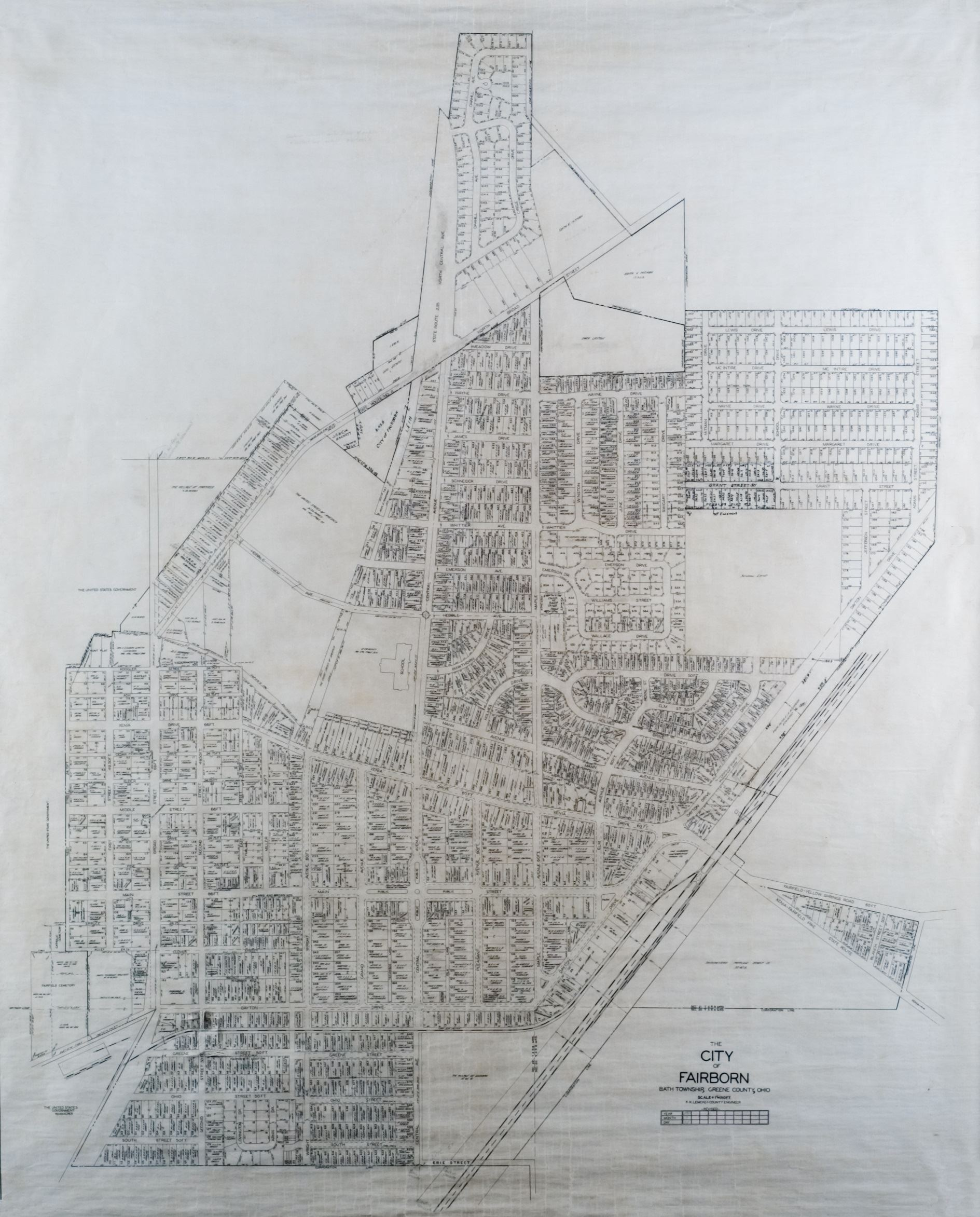 1950 Engineer Map of the City of Fairborn (JPG)