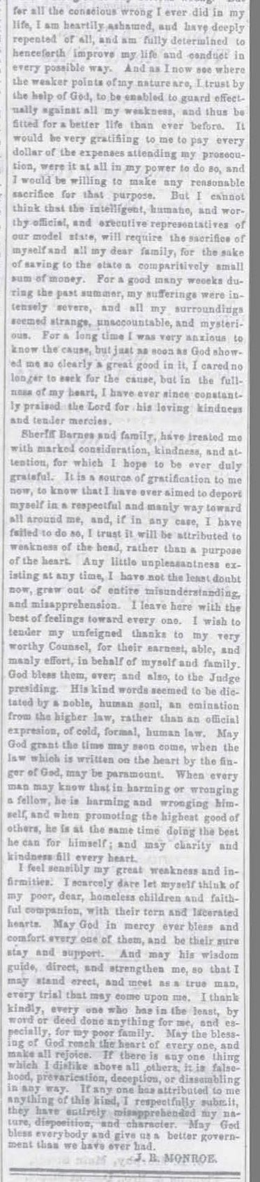 Part 3 of Article from the Xenia Sentinel dated November 25, 1864 (JPG)