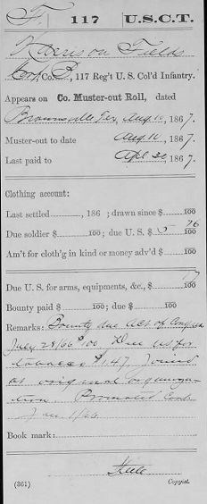 Fig 3. Company Muster Roll indicating promotion from Private to Corporal (JPG)