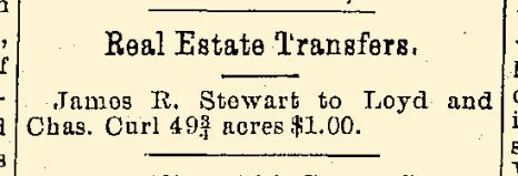 Fig 5. Notice of Transfer of Real Estate in Xenia Daily Gazette, dated August 28, 1896 (JPG)