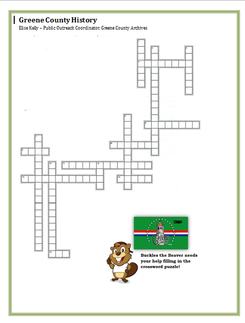 Greene County Crossword Puzzle (PNG)