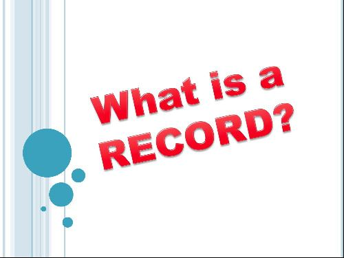 What is a Record (JPG)
