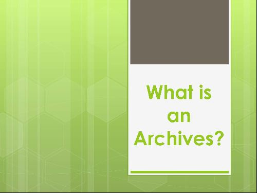 What is an Archive (JPG)