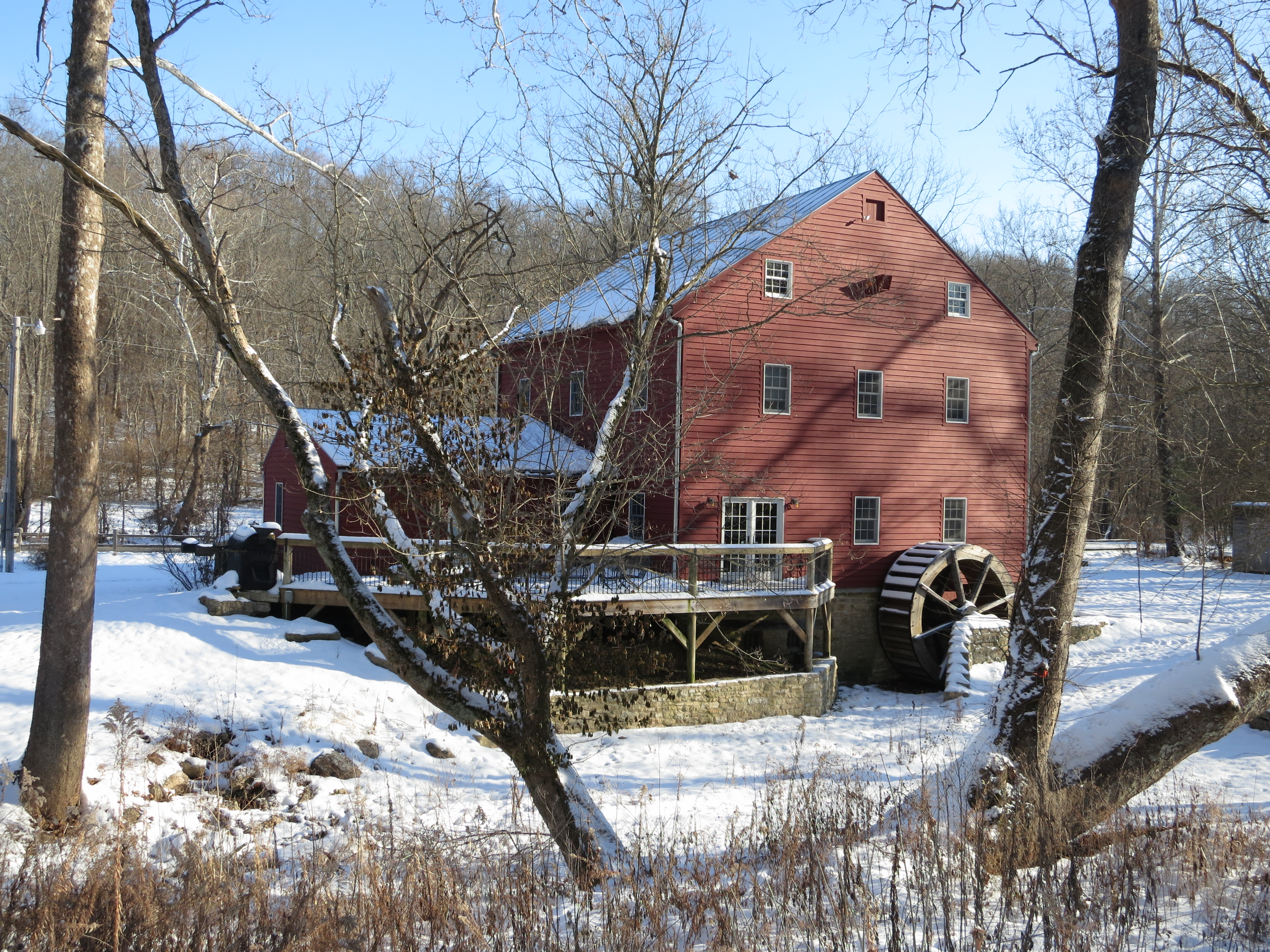 Grinnell Mill in winter